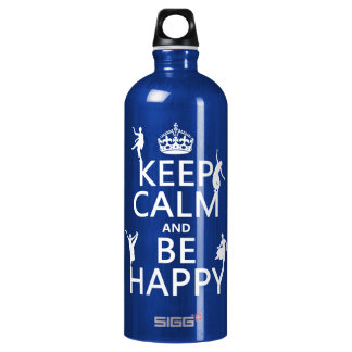 Bouteille D'eau En Aluminium Gardez le calme et soyez heureux (la danse)