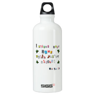 Bouteille D'eau En Aluminium La note de Père Noël