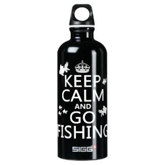 Bouteille D'eau En Aluminium Maintenez calme et allez pêcher