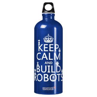 Bouteille D'eau En Aluminium Maintenez les robots calmes et de construction