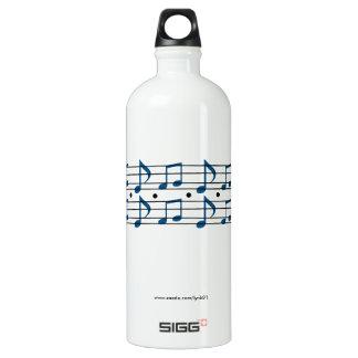 Bouteille D'eau En Aluminium Notes de musique
