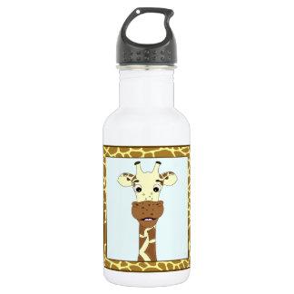 Bouteille D'eau Enfants drôles de bande dessinée de girafe