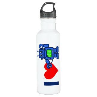 Bouteille D'eau Le robot du coeur I, robot écoutent le coeur