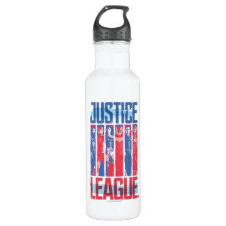 Bouteille D'eau Ligue de justice art bleu et rouge de | de groupe
