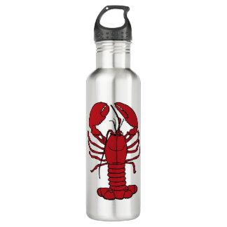 Bouteille d'eau nautique de plage de homard mignon