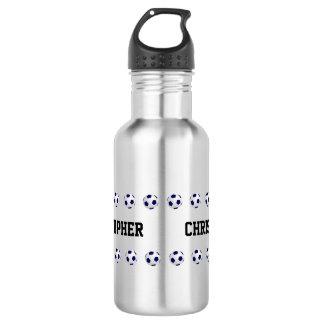 Bouteille d'eau, personnalisée, le football, acier
