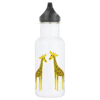 Bouteille D'eau Troupeau heureux de girafe