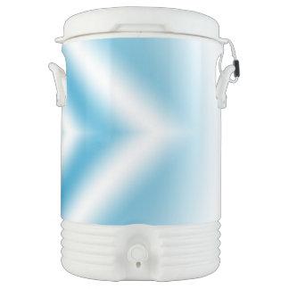 Bouteille Isotherme gradient bleu de diamant de Personnaliser-ciel