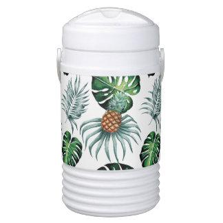 Bouteille Isotherme Peinture tropicale d'ananas d'aquarelle sur le