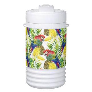 Bouteille Isotherme Perroquets et fruit tropical
