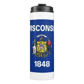 Bouteilles Isothermes Culbuteur thermique avec le drapeau du Wisconsin,