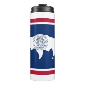 Bouteilles Isothermes Culbuteur thermique avec le drapeau du Wyoming,
