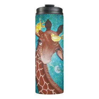 Bouteilles Isothermes Girafe mignonne avec la peinture d'oiseaux