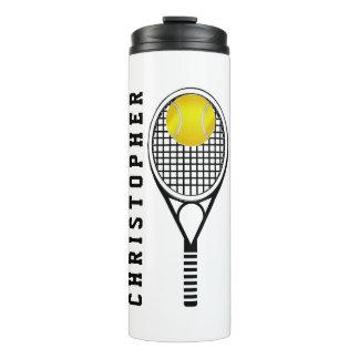 Bouteilles Isothermes Nom ou monogramme personnalisé par tennis