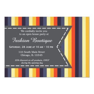 Boutique de mode carton d'invitation  12,7 cm x 17,78 cm