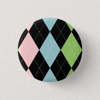 Bouton à motifs de losanges en pastel badge rond 2,50 cm