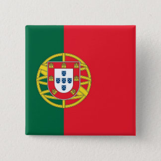 Bouton avec le drapeau du Portugal Badge Carré 5 Cm
