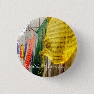 Bouton bouddhiste coloré de drapeau de prière badge rond 2,50 cm