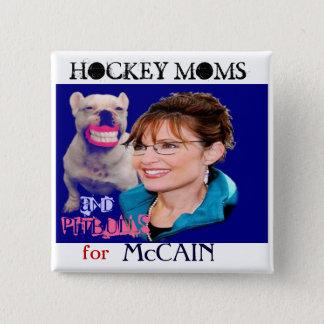 Bouton carré de Palin/Pitbull Badge Carré 5 Cm