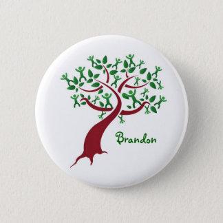 Bouton d'arbre généalogique badge rond 5 cm