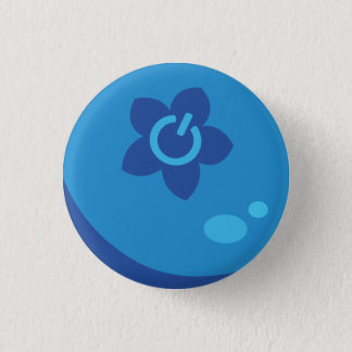 Bouton de baie de médias badge rond 2,50 cm