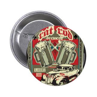 Bouton de brasserie de Rod de rat Badge Rond 5 Cm