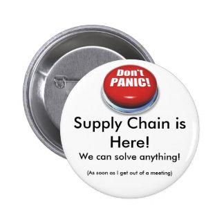 Bouton de chaîne d'approvisionnements badge rond 5 cm