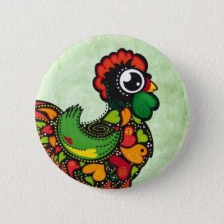 Bouton de coq de Barcelos de Portugais Badge Rond 5 Cm