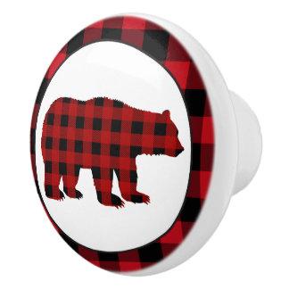 Bouton de cuisine d'ours de plaid de buffle de