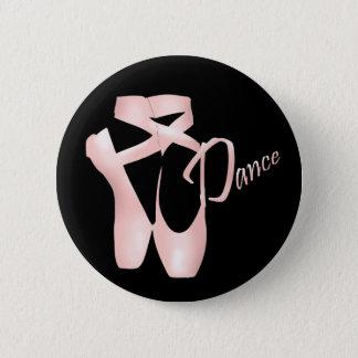 Bouton de danse de chaussures de Pointe de rose de Badge Rond 5 Cm