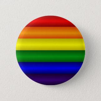 Bouton de drapeau d'arc-en-ciel badge rond 5 cm