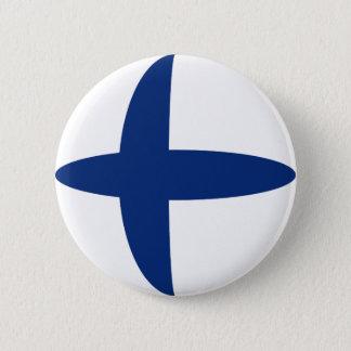 Bouton de drapeau de la Finlande Fisheye Badge Rond 5 Cm