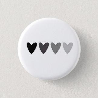 Bouton de effacement de coeurs badge rond 2,50 cm
