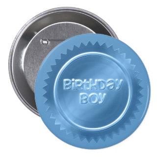 Bouton de garçon d'anniversaire badge rond 7,6 cm