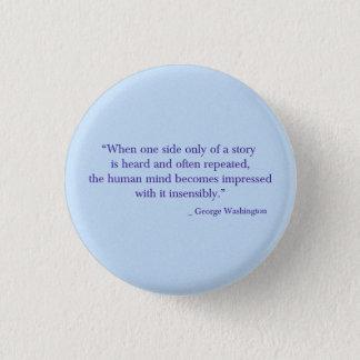 Bouton de George Washington Badge Rond 2,50 Cm
