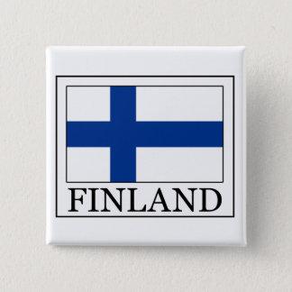 Bouton de la Finlande Badge Carré 5 Cm