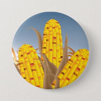 Bouton de maïs badge rond 7,6 cm