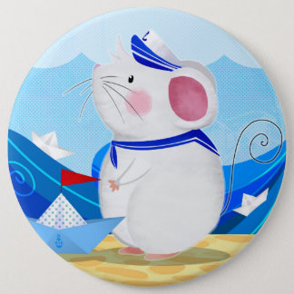 Bouton de marin de souris badge rond 15,2 cm