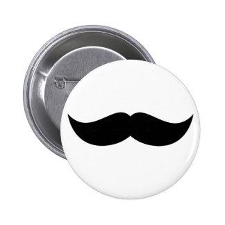 Bouton de moustache pin's avec agrafe