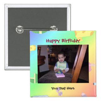 Bouton de photo d anniversaire Pin Badges