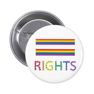 Bouton de Pin d'égalité des droits de droits des h Badge Rond 5 Cm