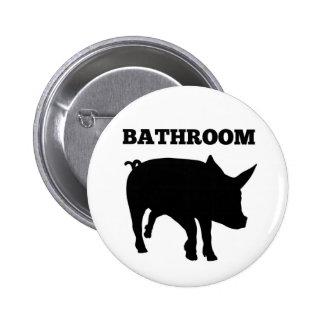 Bouton de porc de salle de bains badge rond 5 cm