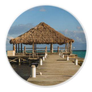 Bouton De Porte En Céramique Ambre gris Caye Belize