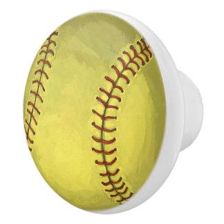 Bouton De Porte En Céramique Art peint du base-ball