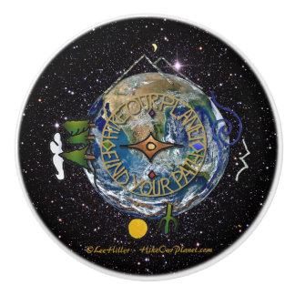 Bouton De Porte En Céramique Augmentez l'espace de boussole de l'âme de notre