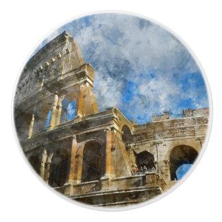 Bouton De Porte En Céramique Colosseum antique à Rome Italie