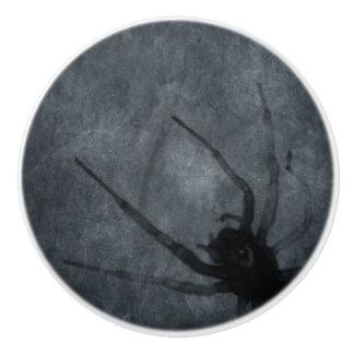 Bouton De Porte En Céramique Copies éffrayantes de Halloween d'araignée