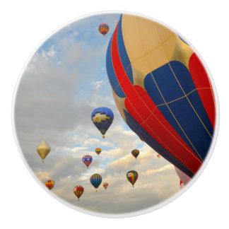 Bouton De Porte En Céramique Courses chaudes de ballon à air du Nevada