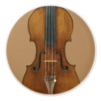 Bouton De Porte En Céramique Détail de violon de Stradivari