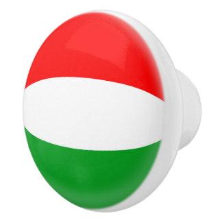 Bouton De Porte En Céramique Drapeau de Hongrois de la Hongrie